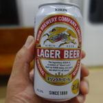 らぁめん めん○ - お金が無かったもんで、帰りの電車の中で缶ビールっす。(情けない)