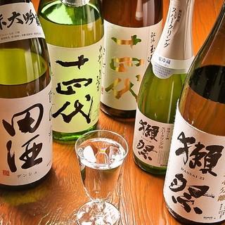 豊富な厳選日本酒×焼酎