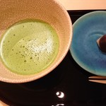 江戸前 鮨 服部 - ◎〆の抹茶と和菓子