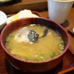 天ぷら はせ川 - 味噌汁