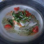 56349350 - 海の幸とカラフル野菜のパレット