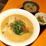 麺屋玉ぐすく - 【限定】かぐら南蛮の担々麺 じゅーしーランチセット