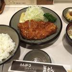 とんかつ美とん - とんかつ定食 (1570円)