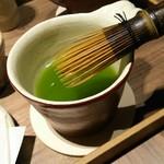 56359982 - 綺麗な緑茶の色 茶筅でまぜまぜ