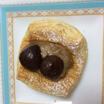 小さなパン屋さんクロリエ - モンブランデニッシュ150円