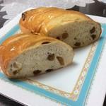 小さなパン屋さんクロリエ - ブドウパンの断面