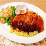 キズナカフェ - ◆長崎県産「諫美豚」を使用したボリューム満点のトルコライス◆