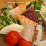 魚頭大熊 - 海藻と魚介のサラダ