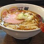 楓 - 秋の限定「煮干しらーめん」780円(横)