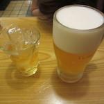 銀座 吉宗 - 梅酒ロック 600円 & 生ビール 650円