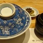 56369351 - ◆「大海老天丼(1728円:税込)」・・天丼・お味噌汁・香の物の」セット