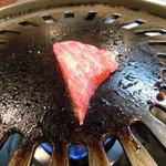 肉料理 荒川 - 三角バラ。
