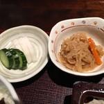 一穂 - 小鉢と漬物