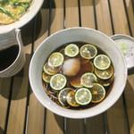 恵比寿 箸庵 - 酢橘の冷やかけおろし