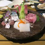 恵比寿 箸庵 - お刺身5種お任せ盛り合せ
