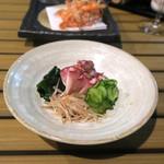 恵比寿 箸庵 - 蛸とキューリの酢の物