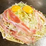 リングリンク - 広島流お好み焼き 豚 1,100円 技の広島流お好み焼きです、大ボリュームで豪快なおいしさです!当店の2大看板商品です!