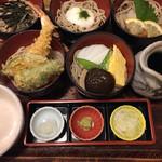 そば処 名古屋 - 料理写真:将軍そば1400円大盛り+250円 4味の将軍そばは大盛りにすると5種類に増えます✨