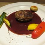 月下 - 熊本県の天草牛のフィレとフィレ・ミニョンのハンバーグ、赤ワインのソース2