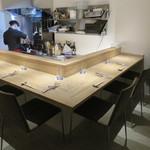 月下 - バー奥のシェフズ・テーブル