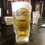 火場忠 - 生ビール