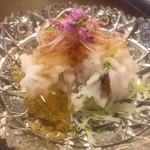 Genyadanahamadaya - 淡路の鱧の土佐酢ジュレ、鱧の旨味、土佐酢の優しさ
