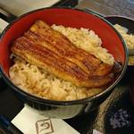 世田谷 宮川 - 鰻丼と鳥丼セット1750円 + ご飯大盛り 100円