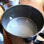 香草庵 - 蕎麦湯(薄い)