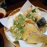 麺房まつみ - 天ざるの天ぷら