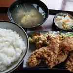 かねこ - 唐揚げ定食@800