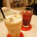 fleur - カフェラテと100%ざくろジュース セットドリンクで200円