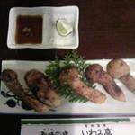 56402986 - 松茸釜飯定食の松茸5兄弟