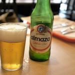 アドニス トーキョー - レバノン麦酒「almaza」600円=爽やかなピルスナー