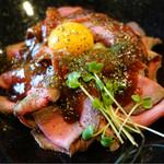 56404438 - ローストビーフ丼(肉増し・ごはん大盛り)