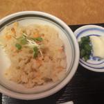 なにわ翁 - 桜海老ごはんは、なんとも上品な味