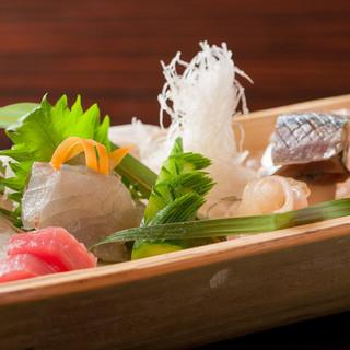 鮮魚のお造り5種盛り合わせ