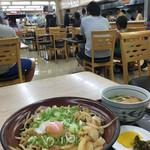 鹿野サービスエリア(上り線)スナックコーナー - まんぷく丼 ミニうどんセット