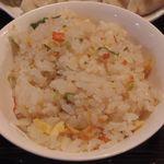 56421369 - 餃子定食の炒飯