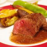 北島亭 - 兵庫県松阪牛ランプ肉のステーキ