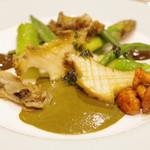 北島亭 - 料理写真:あわびのバターポッシュ肝のソースと青のりバター