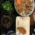 丸亀製麺 - 牛すき釜卵