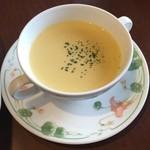 上野 精養軒 カフェラン ランドーレ - パンダプレートのスープ(友人注文分)