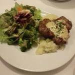 オステリア・バスティーユ - 日替りランチ:豚肩ロースのソテー きのこクリームソース
