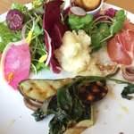 ワイエスシー スペースアンドカフェ ヨコハマ - この日のC COURSE 前菜5種盛ランチ。