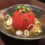 新富町酒場 増太郎 - 出汁トマト うまー