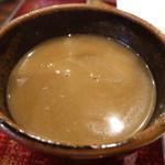 手打蕎麦 つくだ - 韃靼蕎麦の蕎麦湯は色が濃くてびっくりです