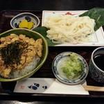 手打ちそば 菊園 - ミニ親子丼+ミニざるきし