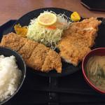 豚菜 - チキンカツ定食(810円)