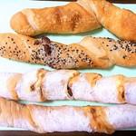 パン工房るばーと - 料理写真:フレンチバー4種類
