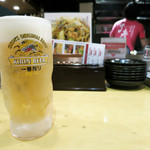 焼きそば専門店 寿座 - 生ビール 540円
